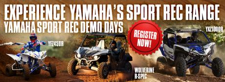 Yamaha Sport Rec Demo Days
